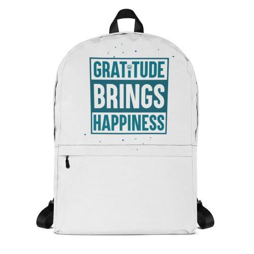 Gratitude Brings Happiness Backpack