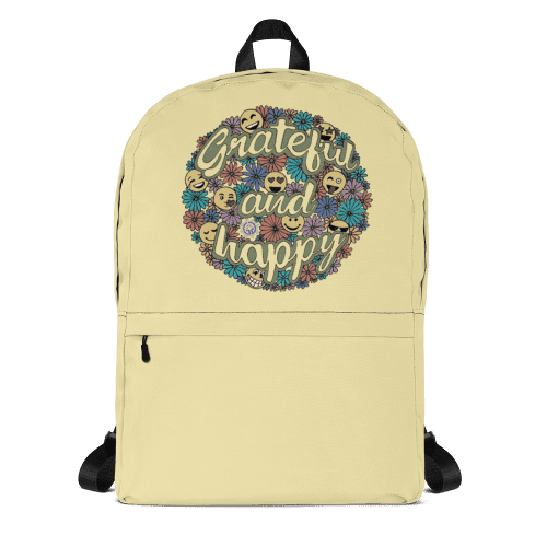 Grateful and Happy Backpack