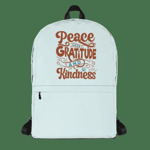 Peace Love Gratitude Kindness Backpack