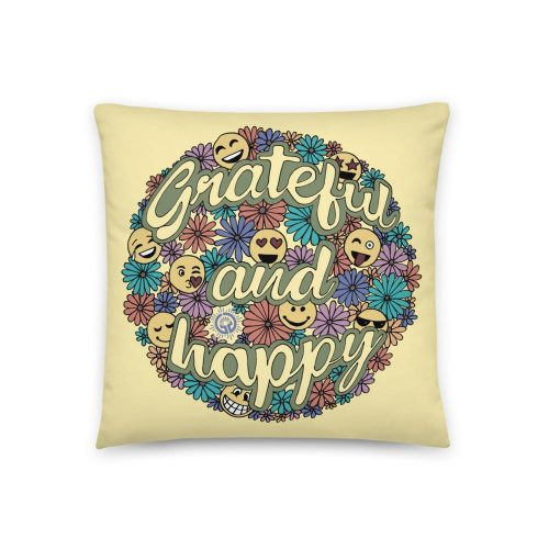Grateful and Happy Pillow