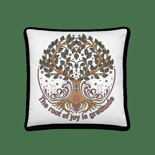 Root of Joy is Gratitude Basic Pillow