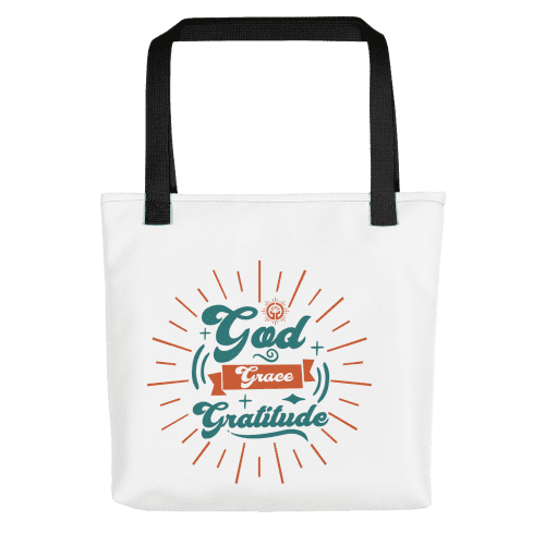 God Grace Gratitude Tote bag