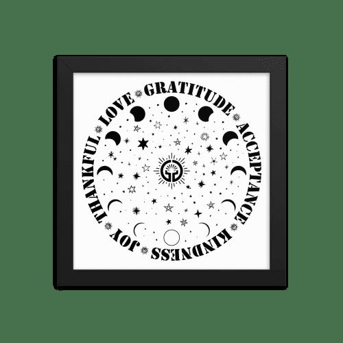 Moon Phases Framed poster