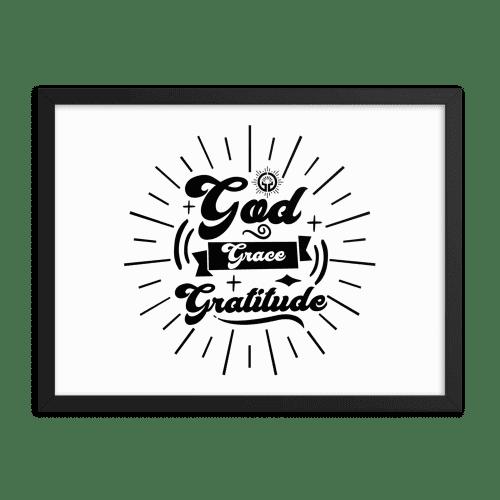 God Grace Gratitude Framed poster