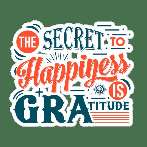 Gratitude Bubble Free Stickers