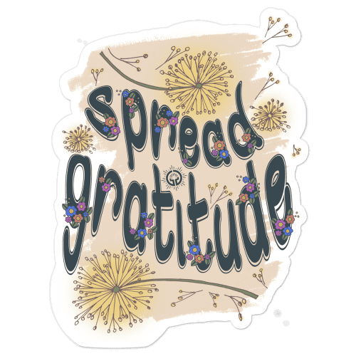 Spread Gratitude Doodle Bubble-free stickers