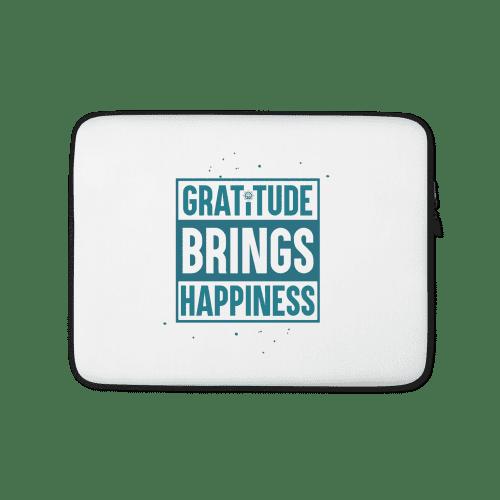Gratitude Brings Happiness Laptop Sleeve