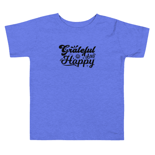 Grateful and Happy Toddler Short Sleeve Tee