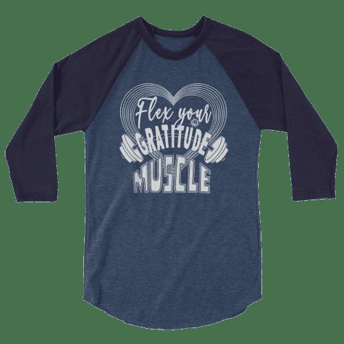 Muscle 3/4 sleeve raglan shirt