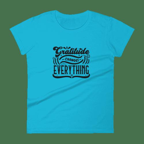 Designer Gratitude Changes Everything Women's Short Sleeve Tee