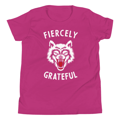 Fiercely Grateful Wolf Youth Tee