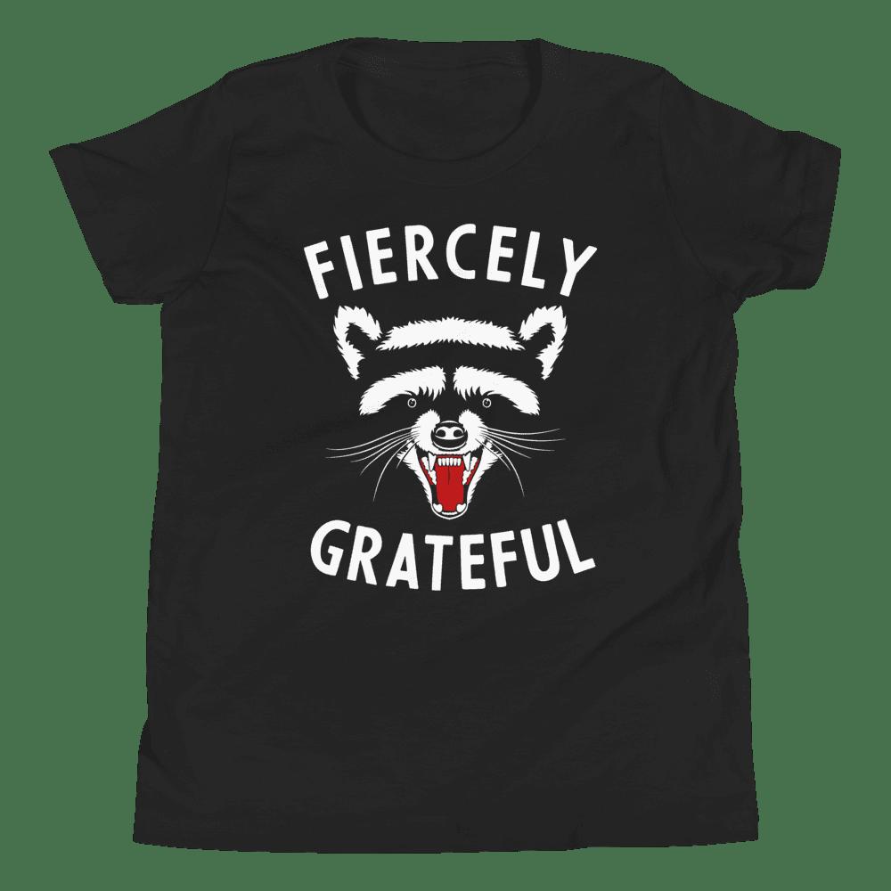 Fiercely Grateful Raccoon Youth Tee