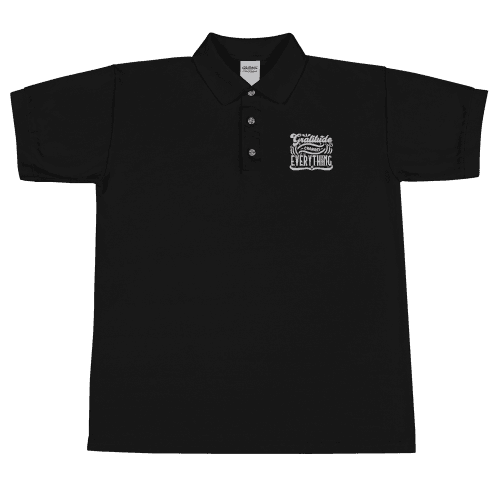 Gratitude Changes Everything Embroidered Polo Shirt