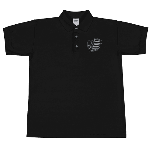 Grateful for Freedom Embroidered Polo Shirt