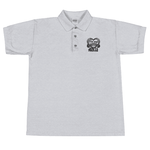 Flex Your Gratitude Muscle Embroidered Polo Shirt
