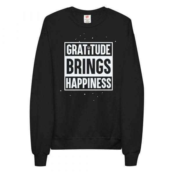 Gratitude Brings Happiness Unisex fleece sweatshirt