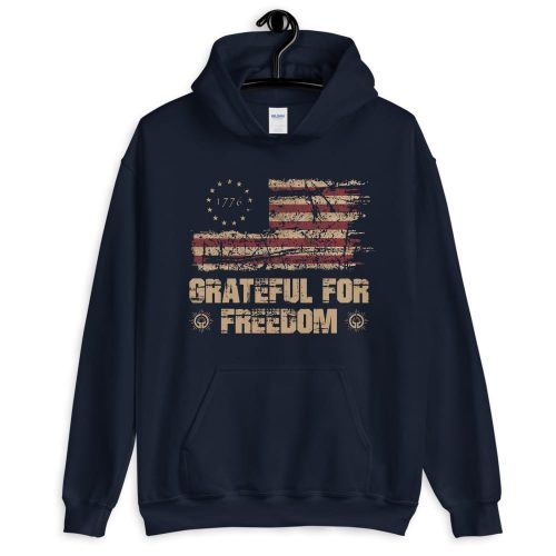 Grateful for Freedom Unisex Hoodie