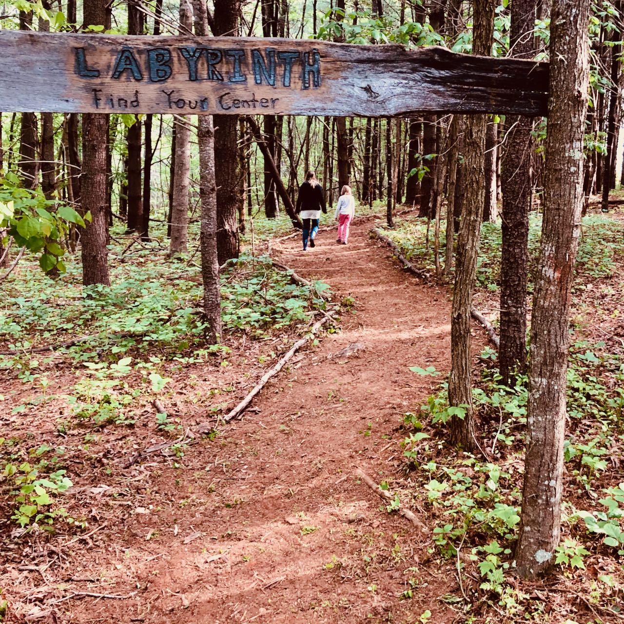 forest labyrinth entrance