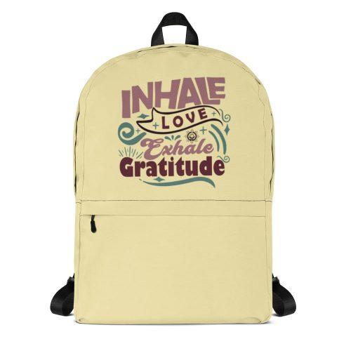 Inhale Love Exhale Gratitude Backpack