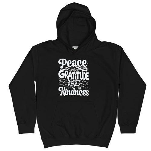 Peace Love Kindness Kids Hoodie