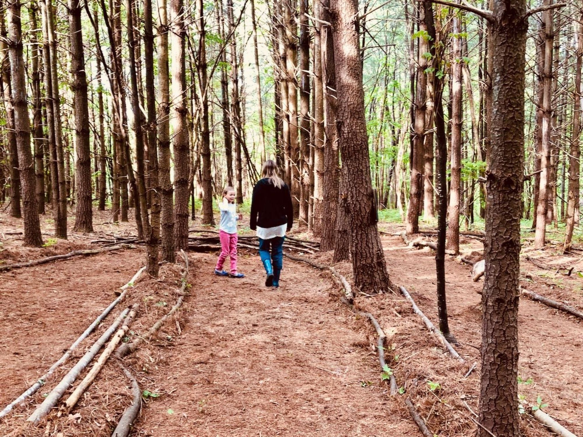 How we Built Our Forest Meditation Labyrinth