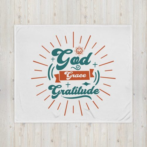 Gratitude Throw Blanket
