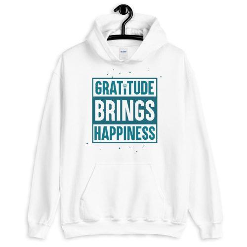 Gratitude Brings Happiness Unisex Hoodie