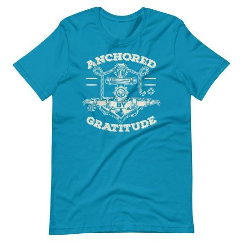 Anchored by Gratitude Short-Sleeve Unisex Tee