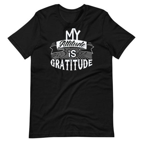 My Attitude is Gratitude Short-Sleeve Unisex Tee