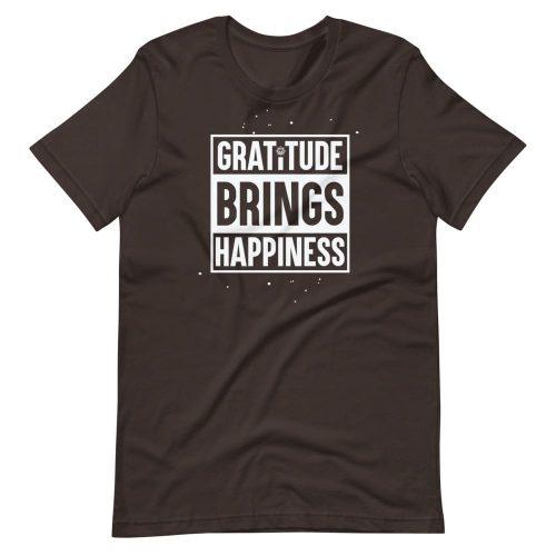 Gratitude Brings Happiness Unisex T-Shirt