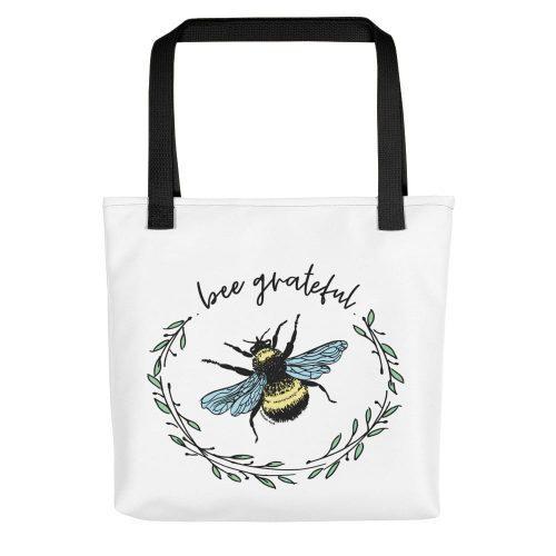 Bee Grateful Tote bag
