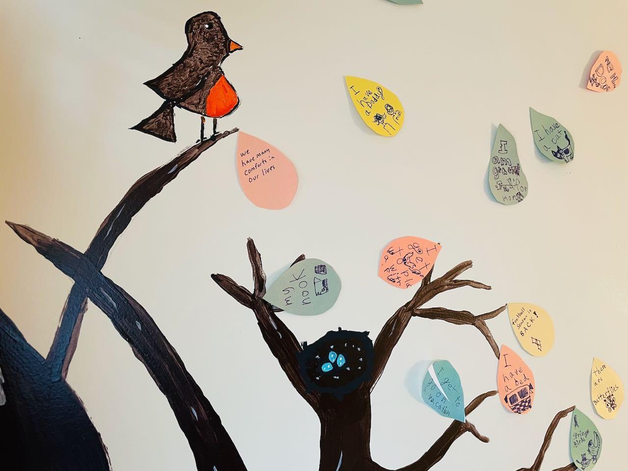kids gratitude tree