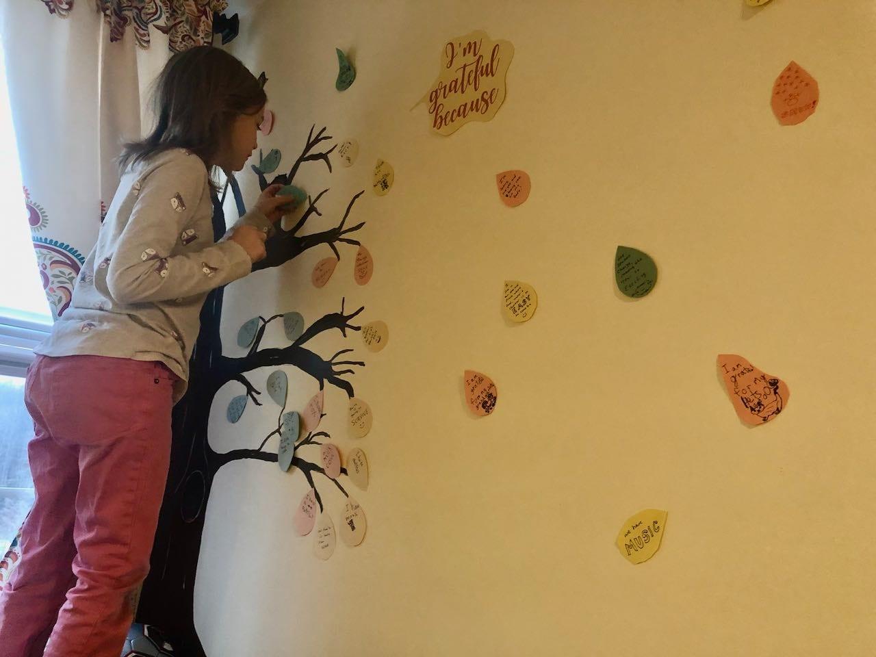 homeschool gratitude tree