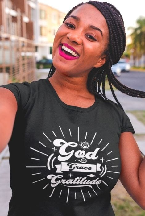 ladies christian god grace shirt