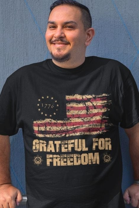 grateful for freedom t-shirt
